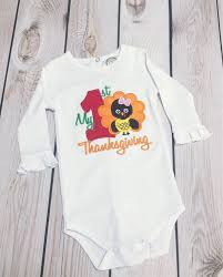 1st thanksgiving turkey onesie baby onesie