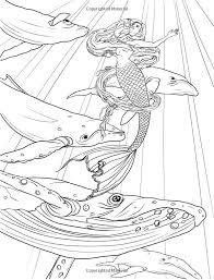 421 fantasy coloring mermaids images mermaid