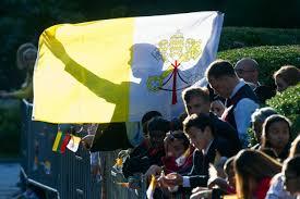 Chaldean Flag Pope Francis Us Visit Barack Obama Welcome Speech Time