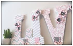 Pink Elephant Nursery Decor by Pink And Gray Grey Elephants Wooden Letters Elephant
