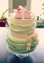 vintage pink u0026 sage ruffles baby shower cake beautiful pink