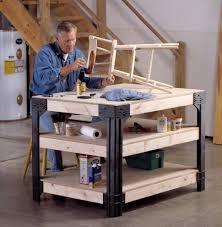 The Work Bench Garage Workbench Nearly Handmade Scrap Lumber Shelves Adapting