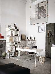 office white industrial home office with white office table and
