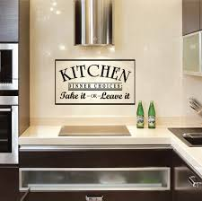 Kitchen Wall Decorating Ideas Photos Interior Design Beautiful Kitchen Design With Wall Quotes Decals