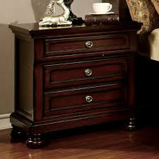 northville dark cherry finish night stand w hidden drawer u0026 power