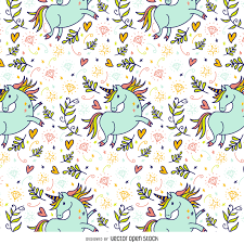 halloween candy background drawn hand drawn unicorn pattern vector download