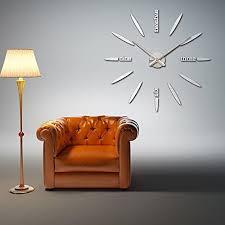 diy wall clock sinto modern 3d frameless large wall clock 60