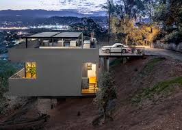 homes built into hillside relaxing hillside echo park home with rooftop carport