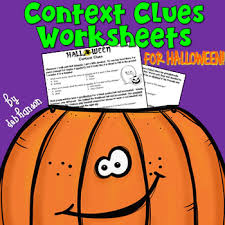 context clues worksheet halloween by deb hanson tpt