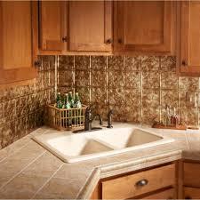kitchen backsplashes backsplash lowes fasade tin peel n stick