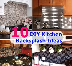 kitchen backsplash ideas diy top 10 diy kitchen backsplash ideas diycozyworld home