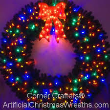 6 foot multi color l e d wreath