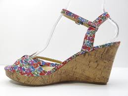 tommy hilfiger home decor tommy hilfiger inya wedge platform sandal pump multi floral 8 5m