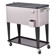 Outdoor Patio Cooler Cart by Amazon Com Cooling Bins Patio Lawn U0026 Garden