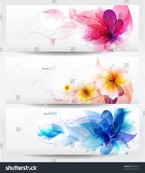 flower vector background brochure template set stock vector