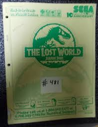 the lost world jurassic park pinball machine game manual 481 for