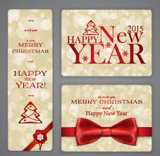 happy new year photo card free merry christmas happy new year cards free vector