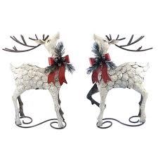 set of 2 reindeer figurines zr140314 the home depot