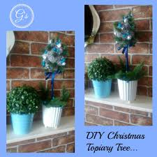 Christmas Topiaries Christmas In July 2016 D I Y Tutorial Topiary Tree Home Decor