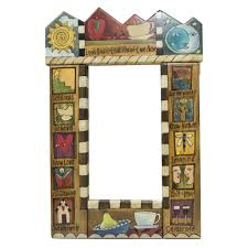 theme mirror sticks mirror st150d painted wood theme sun moon