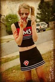 Zombie Cheerleader Costume Spiritless Cheerleader Zombie Kids Costume Halloween Pinterest
