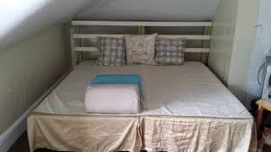 no headboard bed frame how i built a and headboard for about arsenic bed frame without