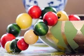 Fruit Vase Filler Diy Colorful Wood Bead Vase Filler Casa Watkins Living