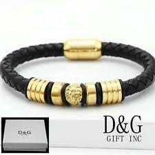 bracelet leather gold images Lion bracelet ebay jpg
