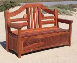 Simple Outdoor Bench Seat Plans by Wood Bench With Storage Deck Wood Bench With Storage For Simple