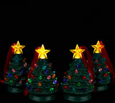 mr christmas set of 4 mini nostalgic tree ornaments with gift