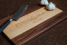 cutting board personalized cutting board laser engraved maple