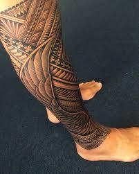 best 25 polynesian leg tattoo ideas on pinterest polynesian