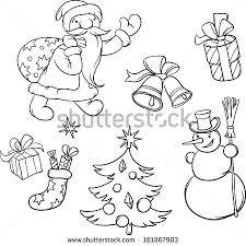 vector illustration coloring book santa claus stock vector