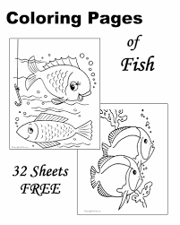 fish coloring sheets pictures