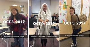 Internet Meme Costumes - high schooler wins the internet for her 31 days of halloween