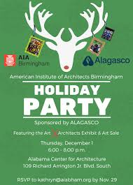 aia birmingham holiday party art x architects exhibit aia