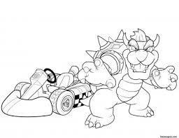 printable super mario bowser coloring pages printable