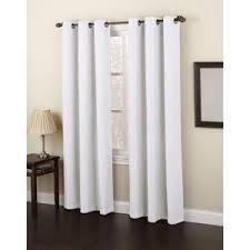 semi opaque white no 918 casual montego woven grommet top curtain