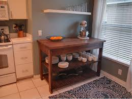 small sized diy kitchen islands which is made of wood elements