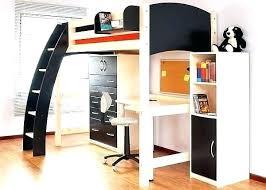 lit surélevé avec bureau lit en hauteur 2 places lit hauteur avec bureau lit mezzanine 2