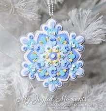 polymer clay snowflake ornament snowflake ornaments polymer clay