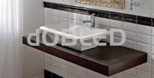 encimera tapa para ba祓o a medida de madera con faldon doble d