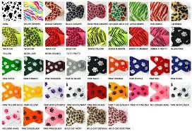 paw print ribbon animal print ribbon