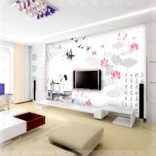Wall Paints Living Mural Tv Background Wall Wallpaper Sofa Chinese Style