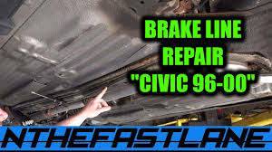 rusted brake line repair how to