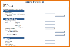 Profit And Loss Statement Template Excel 8 Income Statement Template Excel Itinerary Template Sle