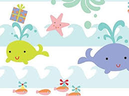 sea babies baby girl or boy gift wrap wrapping paper