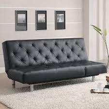 shop coaster fine furniture black vinyl futon at lowes com