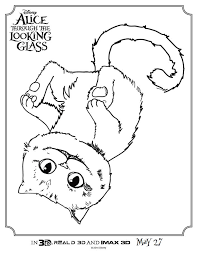 check alice glass coloring pages