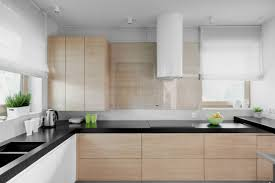 baffling l shape white plywood kitchen cabinets featuring wall
